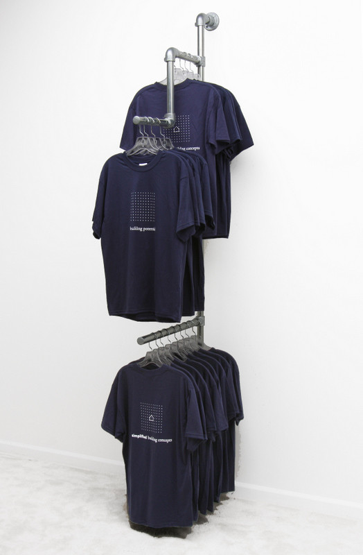 Wall Mounted Clothing Rack Display Clothing Racks