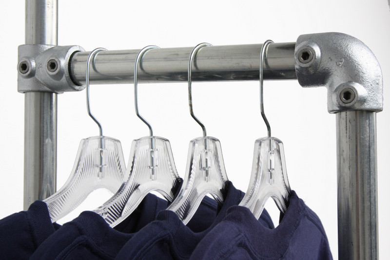 Wall Mounted Display Fixtures : Wall Mounted Clothing Rack - Display - Clothing Racks - Kits Simplified Building