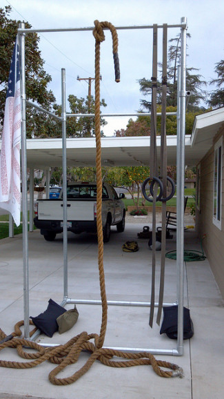 DIY Freestanding Pull Up Station and Workout Structure