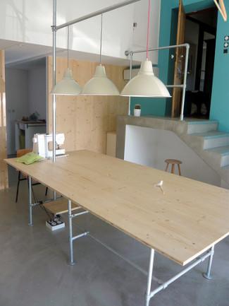 Seamstress Studio Workshop Features Industrial Furniture
