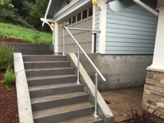 14 Easy To Install Residential Exterior Handrail Ideas