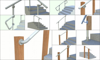 Simple Rail - Simplified Handrail for  Stairs