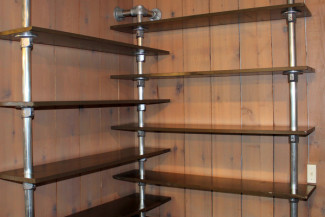 wall mounted corner bookshelf that revitalizes lost space - Steel Bookshelves