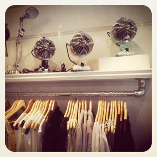 Shelf Mounted Clothing Rack for Retail Store