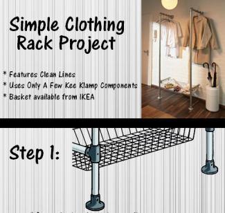 Instructions for DIY Pipe Clothing Rack Project