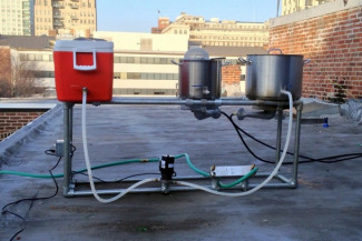 Backyard Home Brewing Station