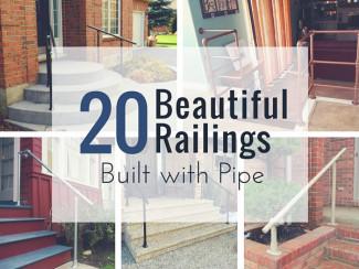 20 Beautiful Railings Built with Pipe