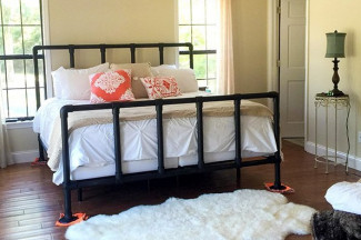 47 diy bed frame ideas built with pipe iron furniture