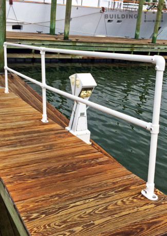 Corrosion Resistant Boat Dock Railing