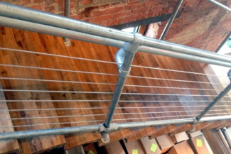 Cable Railing System on Kee Klamp Pipe Railing