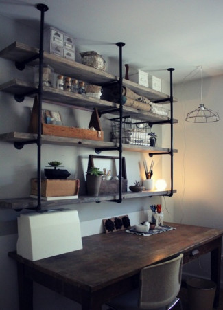 59 diy shelf ideas built with industrial pipe simplified building shelving 10 diy industrial shelf ideas solutioingenieria Image collections