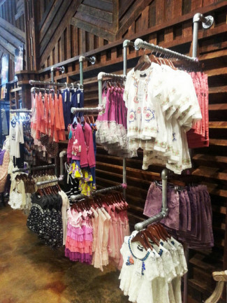 Display Racks for Children's Clothing