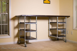 Industrial Pipe Desk & Shelving Plans