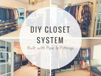DIY Closet System Built with Pipe & Fittings (Plans Included)