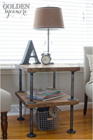 39+ DIY End Table Ideas Built with Industrial Pipe