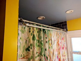 DIY Double Shower Curtain Rod with Towel Bar (Plans Inside)