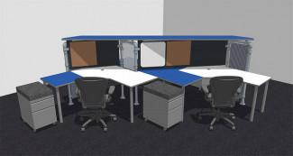 Multi Station Work Desk Design