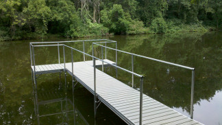 Simple sturdy exterior stair railing simplified building - Removable swimming pool handrails ...