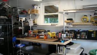 Custom Reloading Bench and Storage Shelves