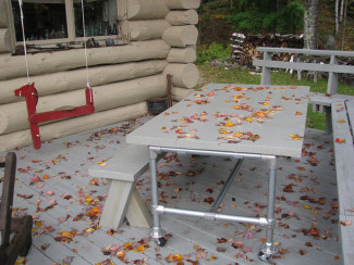 Rolling Outdoor Table for the Deck