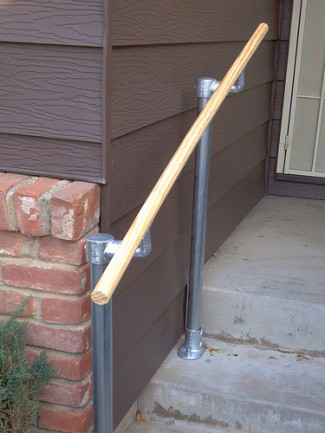 Creative Alternatives: Wood Railing for the Handrail Grab Rail
