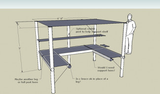 U-Shaped Desk w/ Loft design