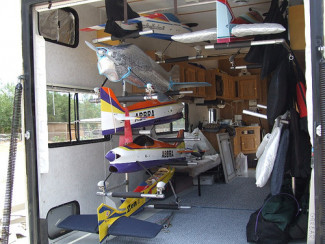 Model Airplane Support Rack (Finished)