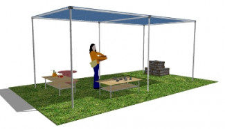 DIY Shade Structure in SketchUp