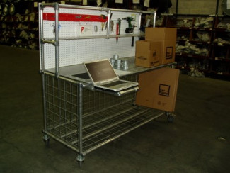 Warehouse Work Cart Built with Kee Klamp