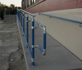 Ada handicap handrail projects simplified building for Handicap stairs plans