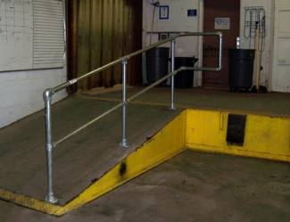 Ramp Safety Rail and Safety Gate Installation
