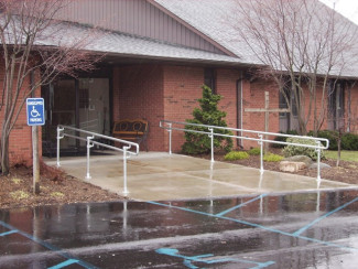 New ADA Handrail for Church Building