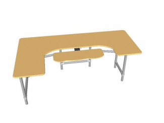 Sketchup Model Created for Ergonomic Computer Desk Project