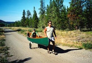 Kee Klamp Canoe Cart