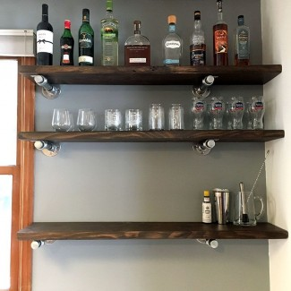 40+ Floating Shelf Ideas Built With Industrial Pipe