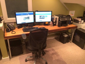 Reclaimed Bowling Lane Desk