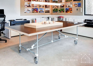 DIY Industrial Conference Table: How to Build Your Own