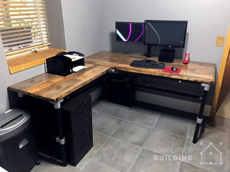 DIY Laminate Flooring Table Top Desk