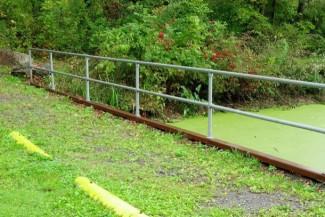 Pipe Railing for Boat Ramp Access Point