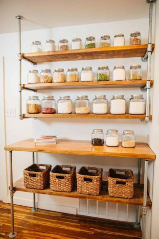 45+ DIY Pantry Shelves Built with Pipe & Fittings