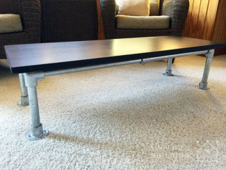 How to Build a Coffee Table Using Pipe Fittings
