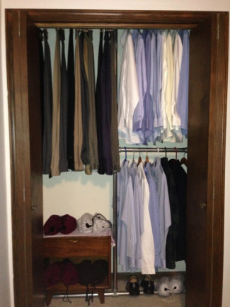 Design a Space Saving Closet Using Pipe and Fittings