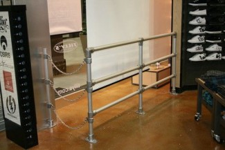 Need to Keep the Customers out of the Store Window?  Put Up a Railing!