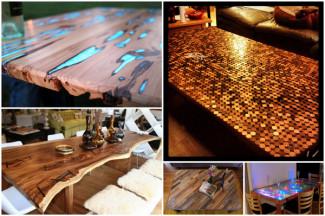 5 Table Top Ideas For DIY Industrial Pipe Desks