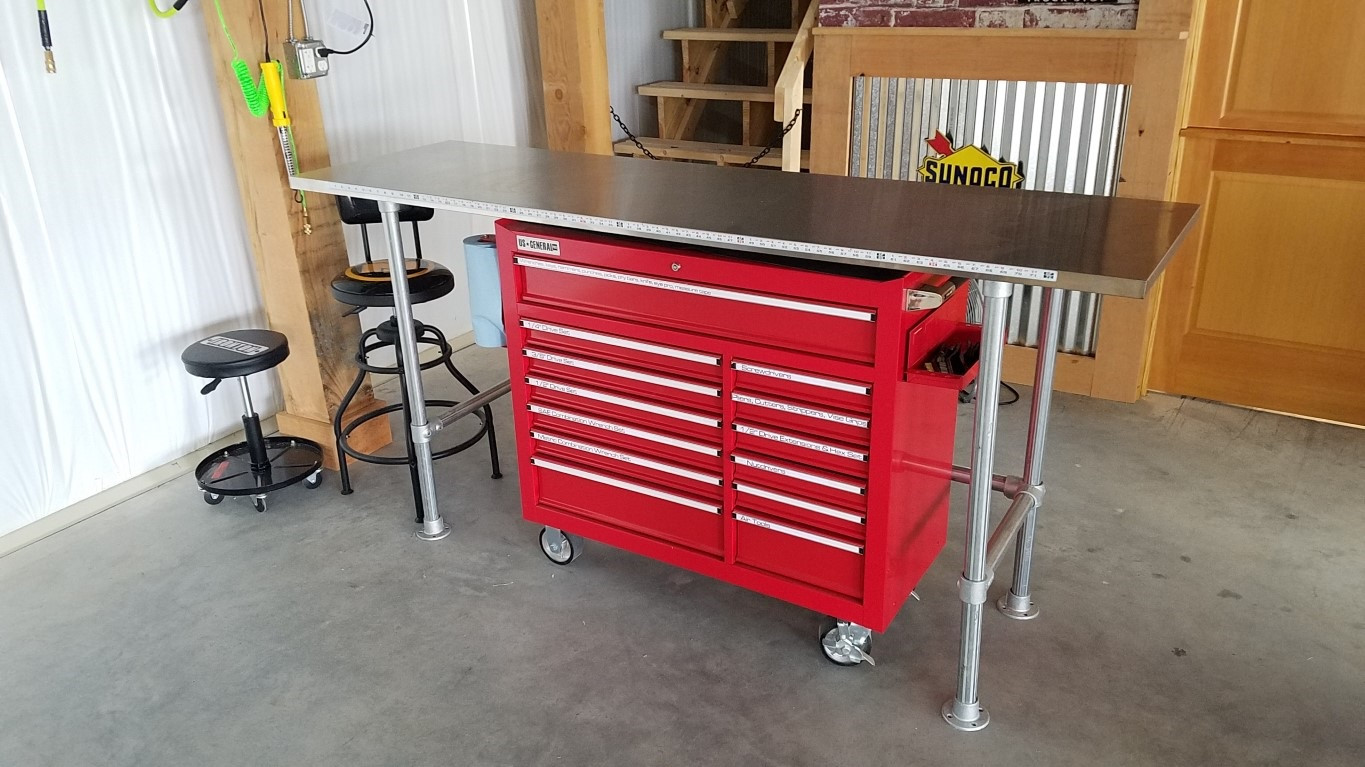 How To Build A Garage Workbench Simplified Building