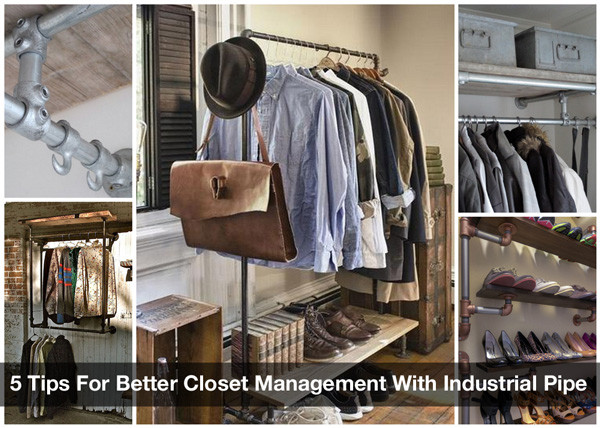 5 Tips For Better Closet Management With Industrial Pipe | Simplified  Building