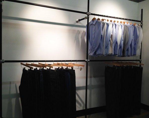 DIY Garment Rack For Men's Clothing Showroom