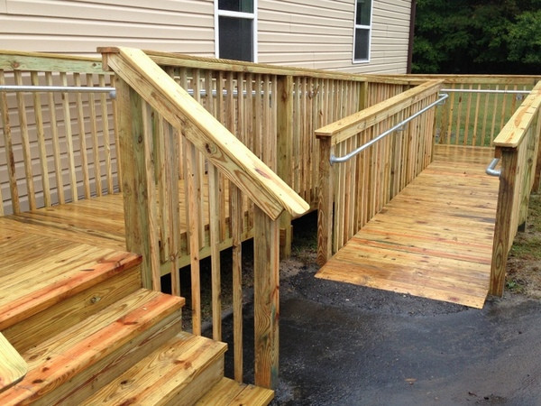 How To Add Ada Railing To A Wooden Access Ramp