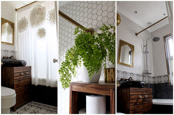 Create an Antique Curtain Rod for your Bathroom Remodel