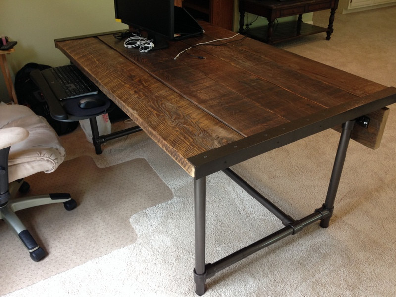 Easy To Build Barn Wood Desk Desk Week Simplified Building